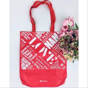 Lululemon Large Reusable Shoppers Tote Bag